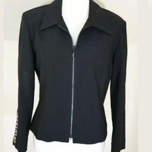 Joseph Ribkoff Black Rhinestone Stretch Jacket